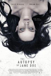 10/1/17 – OCTOBER HORROR MOVIE PICK #1 – The Autopsy of Jane Doe.
