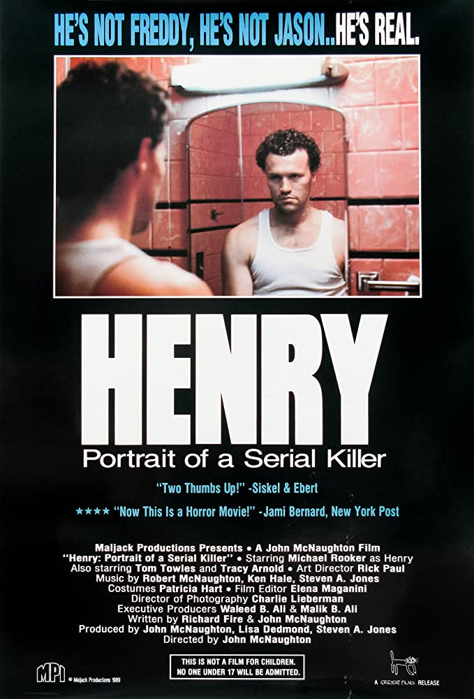 10/8/20 – OCTOBER HORROR MOVIE PICK #8 – Henry: Portrait of a SerialKiller.